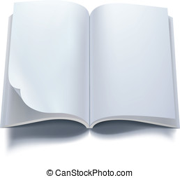 Open book with blank pages. Vector