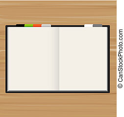 Open Book With Blank Pages, Vector Illustration