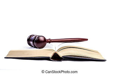 Open book with Gavel