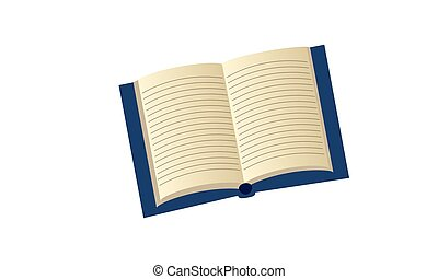 Open book with lines for writing