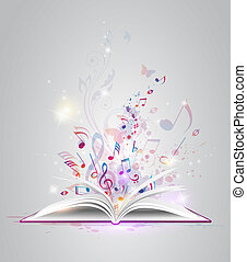 Open book with notes