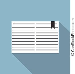 open book with ribbon bookmark icon vector illustartion