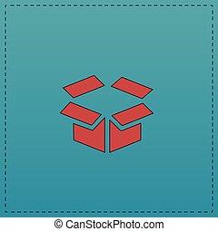 Open box computer symbol