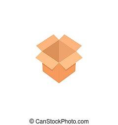 Open box graphic design template vector