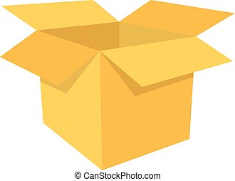 open box clipart. open box icon shipping and storing isolated on white clipart