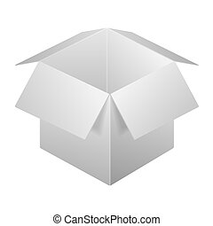 Open Box Icon, Template. Isolated On White Background.