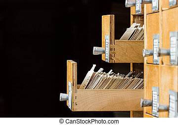 Open box in the archive library