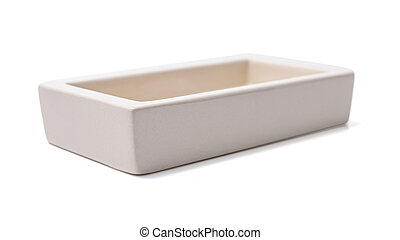 Open box isolated on a white background. - Open empty box...