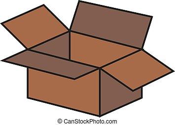 Open box isolated on white. Eps 10 vector illustration.