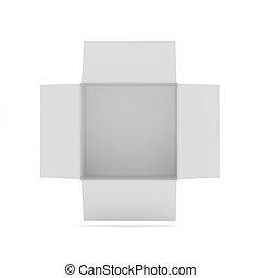 Open box on white background