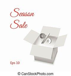 Open box, season sale