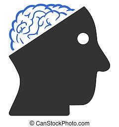 Open Brain Raster Icon