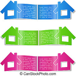 Open brochure templates with a house