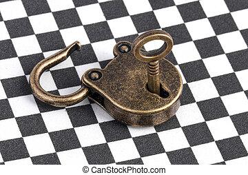 open bronze lock