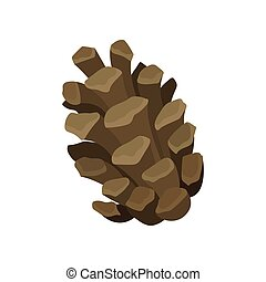 Open brown bump on a white background. Vector illustration.