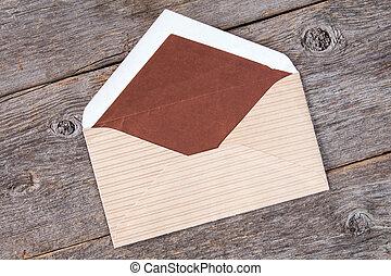 Open brown envelope