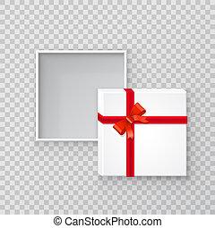 open, cadeau, papier, plein, doosje