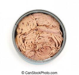Open can of tuna