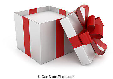 3d gold silver gift box isolated white background drawings open cap of silver gift box negle Choice Image
