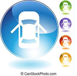Open Car Door Crystal Icon