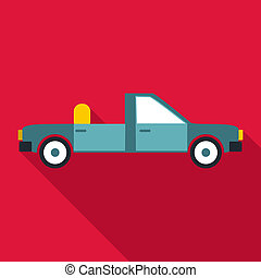 Open car icon, flat style