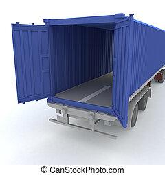 Open cargo container - Open cargo container