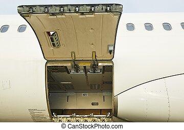 Open cargo door