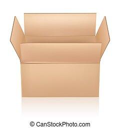 open carton box on white