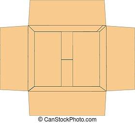 Open carton box. Vector illustration