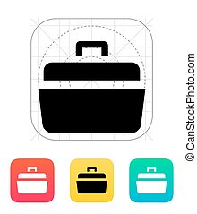 Open case icon. Vector illustration.