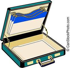 Open case, vector