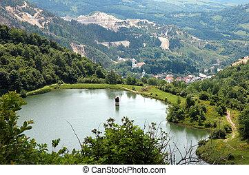 Open Cast Gold Mine, Romania - Open Cast Gold Mine, Rosia...