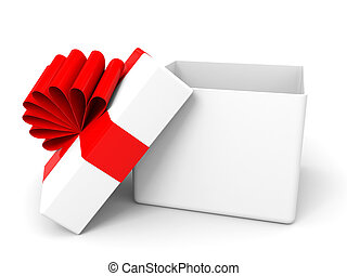 Open christmas gift box. 3D illustration.