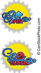 open-closed, signes