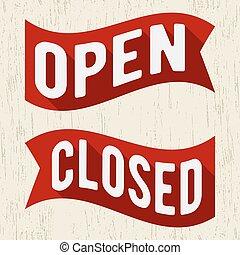 Open closed symbol
