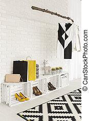 Open closet design for sophisticated home interior