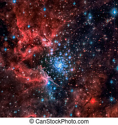 Open cluster of stars in the Carina spiral arm of the Milky...