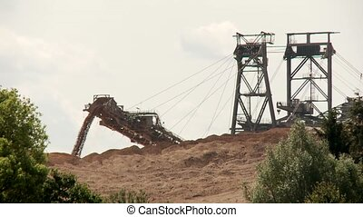 Open Coal Mining - Video footage of a open Coal mining in...