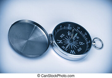 open compass in blue