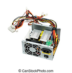 Open computer power supply device isolated