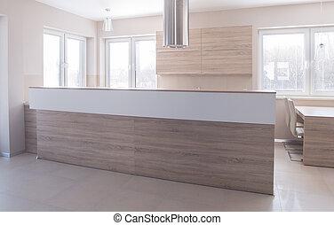 Woonkamer ceiling moderne groot hoog hout keuken levend