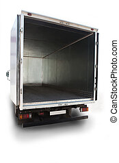 open, container, vrachtwagen