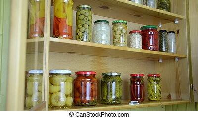 open cupboard jar