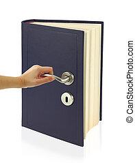 open de deur, van, kennis