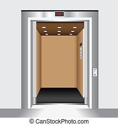 open deur, lift