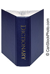 Open Dictionary isolated - An open dictionary isolated on a ...