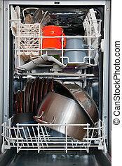 open dishwasher - photo shot of open dishwasher