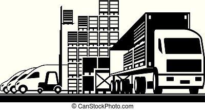 Open distribution warehouse