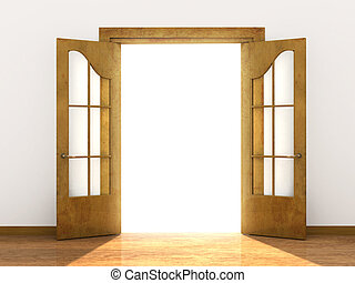Open door - Conceptual image - a way to success