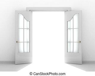 Open door - Conceptual image - a way to success